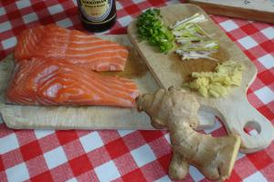 Pavés de saumon au gingembre