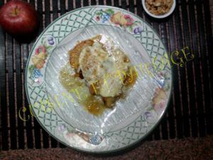 Pommes aux miel noix fromage de ch�vre