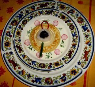 Pétales de st-jacques au caviar d'Aquitaine