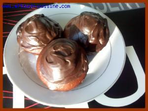 Petits cakes au chocolat et leur glaçage
