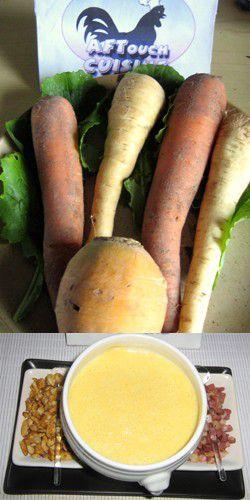 Potage de légumes oubliés