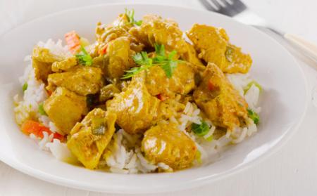 salade de melon et poulet au curry