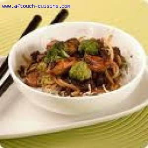 Poulet au miel facon wok