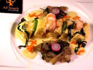 Quenelle de brochet et Langoustines au Curry