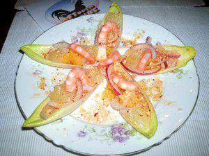 Queues de crevettes marinées
