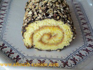 Orange Marmalade Swiss Roll