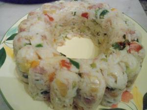 Salade de riz crevettes et l�gumes