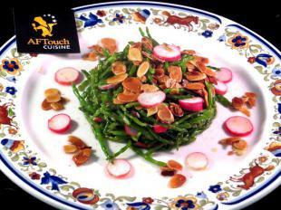Salade de passes-pierre et amandes effilées