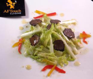 Salade de Barbe de Capucin et truffes noires