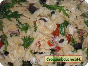 Salade de p�tes  au jambon et mozzarella