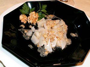 Salade de topinambours aux noix