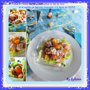 Saumon cru mariné à la tahitienne
