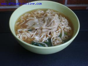 Soupe chinoise aux ravioles