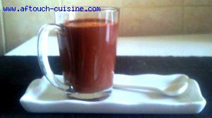 Soupe de chocolat aux épices