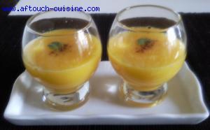 Soupe de mangues épicée