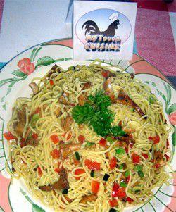 Spaghettis aux girolles
