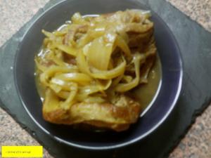 Tajine de veau oignons miel et curry