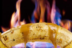 Tarte aux bananes caram�lis�es