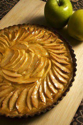 tarte aux pommes � la frangipane