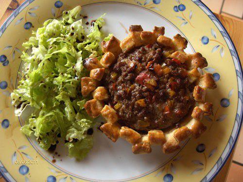Tartelette de Steak Haché (tomate et poivron)