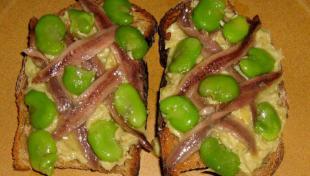 Tartine gourmande artichaut et anchois