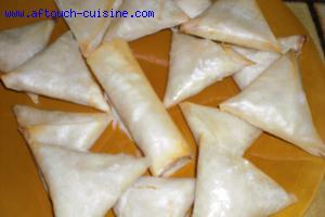 Samoussas, Triangles � la cr�me de poireaux