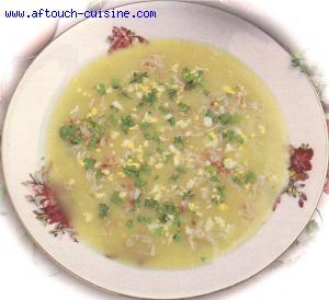 Velout� d'asperges vertes au crabe
