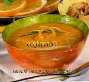 Velout� de Carottes � l'Orange