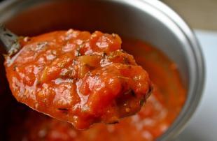Véritable sauce tomate