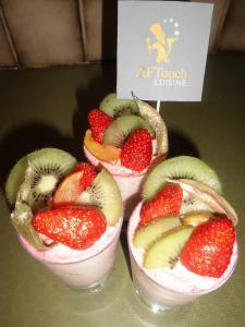 Verrines façon charlotte aux fraises