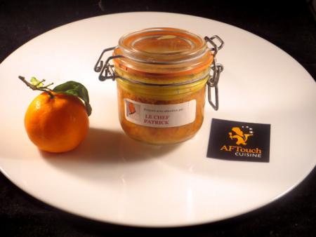 Bocaux de perdreau foie gras orange