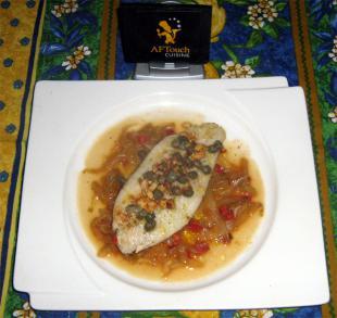 Le filet de Turbot cuit Meunière