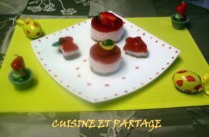 Bavarois fraises spéculoos