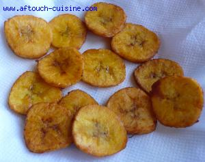 chips de bananes plantain recette aftouch cuisine. Black Bedroom Furniture Sets. Home Design Ideas