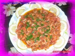 Crevettes en sauce