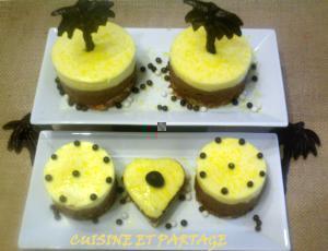 Gâteau fondant mousse mangue chocolat