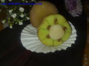 kiwi à la pâte d'amande