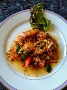 Salade de tomates et maquereau
