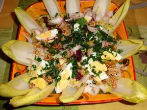 Salade de betterave rouge et endive