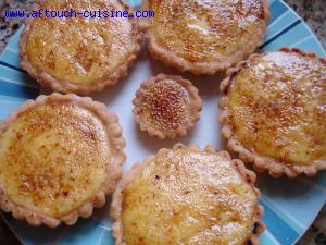 tartelettes à la crème brûlée
