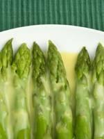 Warm green asparagus