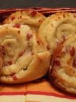 Brioche sal�e au fromage lardons et sauce bechamel