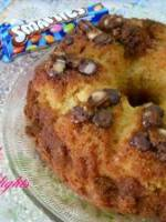 Cake couronne aux smarties et � l'orange