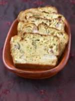 Cake aux poireaux et lardons