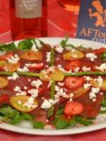 Carpaccio de bresaola aux fruits