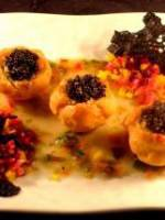 Caviar en coques prise de mer betteraves chioggia