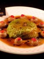 Chartreuse de Faisane foie gras et petits Paris
