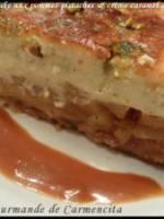 Cheesecake pommes-pistaches et crème caramel
