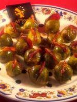 Choux de bruxelles rôtis  pastilles de chorizo
