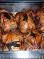 Coquelets farcis au riz sauvage et amandes